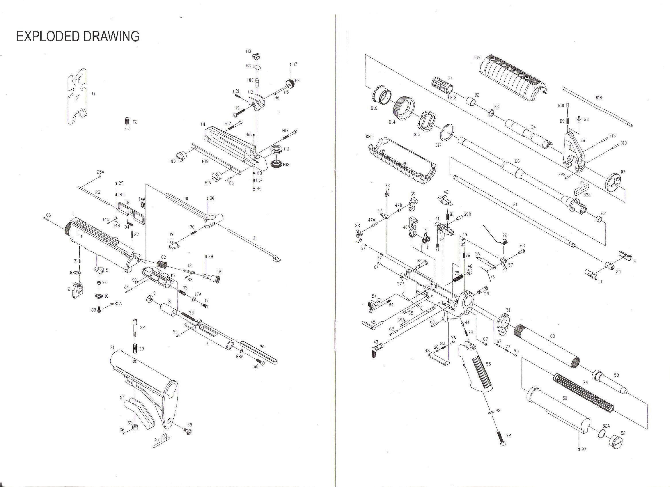 Éclaté réplique , Éclaté chargeur , Liste des pièces , détail M4  712958clatrpliquekjw001-2d66bda