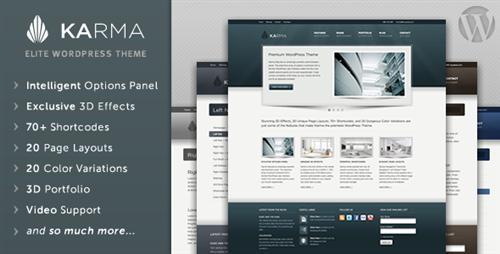 ThemeForest - Karma - Clean and Modern Wordpress Theme v2.5 UPDATED